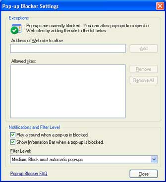 google tool bar pop up blocker:
